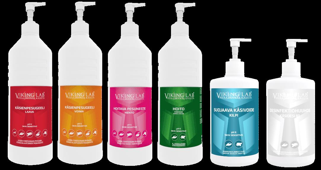 käsienpesuaine-tuotteet
